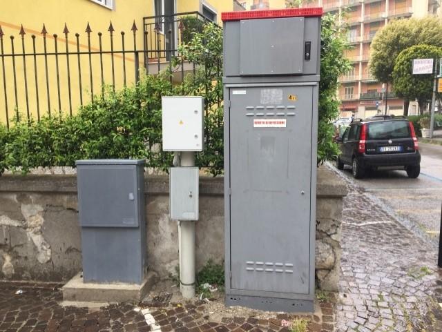 Cabinet stradale a Porto Cesareo.