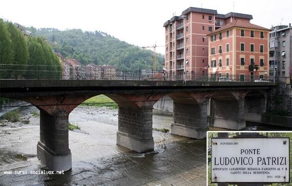 Ponte di Genova, in memoria di Ludovico Patrizi.