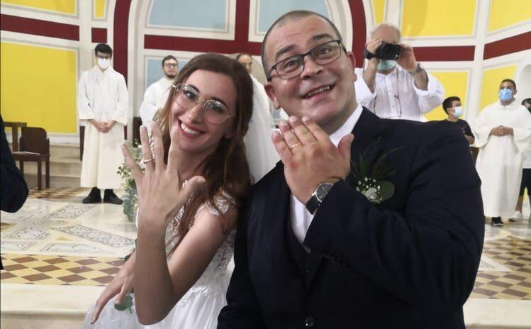 Coniugi Polimeno, finalmente sposi.
