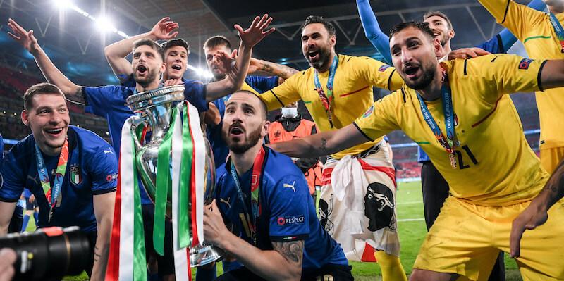 Italia sei bellissima, campioni d'Europa.