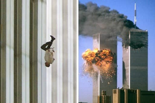 "11 settembre 2001, ""Falling man""."